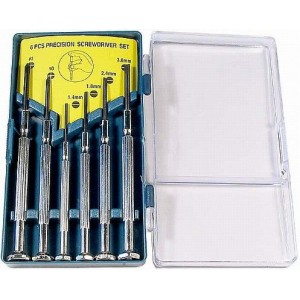 Sada šroubováků, 2x křížový 0-1+plochý 1,4-1,8-2,4-3mm