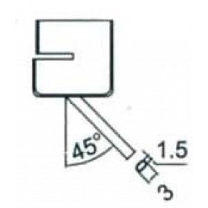 Nástavec na vyfoukávačku-zkosená trubička 3mm