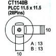 Nástavec na vyfoukávačku PLCC 28pin 10x10mm