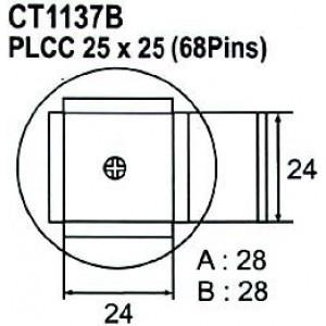 Nástavec na vyfoukávačku PLCC 68pin 24x24mm