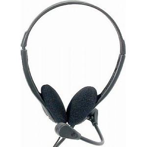 Sluchátka s mikrofonem HP-116C, 2x32ohm, 2x jack3,