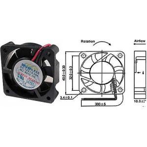 Ventilátor 40x40x10mm 12V/0,09A 6000 ot/min.