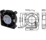 Ventilátor 40x40x10mm 12V/0,08A 5000 ot/min