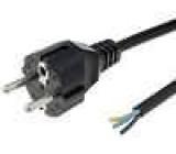 Kabel vodiče síťové typu E/F vidlice černá 1,8m 3x0,75mm2