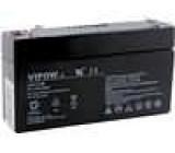 Olověný akumulátor 6V 1,3Ah 96x24x51mm VIPOW