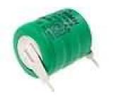 Akumulátor NiMH 3,6V 80mAh fi 16x18mm, 2 vývody