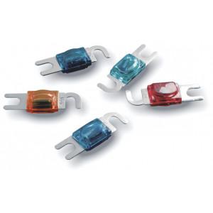 IMPACT pojistka zlacená 60A AFC s žárovkou barva modrá