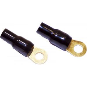 Očko černé M8 pro kabel 25mm2, 10ks
