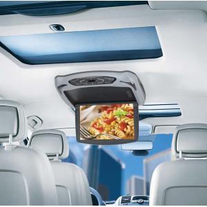 """Stropní monitor 10"""" šedý s DVD/SD/USB + výměnný kryt béžový/černý"""