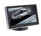 """LCD monitor 4,3"""" černý s chrom rámečkem na palubní desku"""