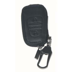 Kožený obal se zipem černý pro klíč Kia/Hyundai