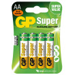 Alkalická baterie GP Super LR6 (AA), 6 ks + 2 ks v blistru