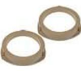 MDF kroužky pro repro na Opel Astra 2 1998-> 130mm zadní