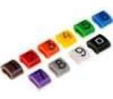 Kabelová značka 0-9x100 kusů, barevné