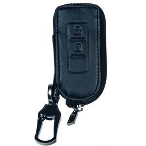 Kožený obal se zipem černý pro klíč Mitsubishi Lancer/ASX/Outlander
