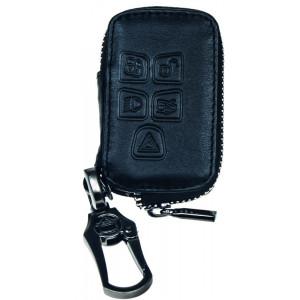 Kožený obal se zipem černý pro klíč Jaguar XF/XJ