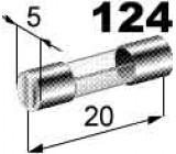 pojistka skleněná 2A 5x20mm