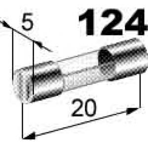 pojistka skleněná 20A 5x20mm