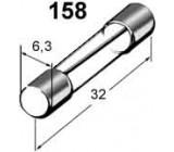 pojistka skleněná 15A 6,3x32