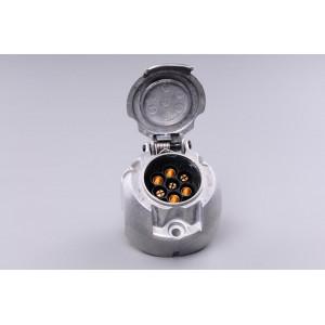 zásuvka 12V 7P hliníková JAEGER+těsnění (úzká)