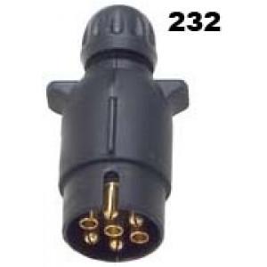 vidlice-zástrčka 12V 7P plast JAEGER