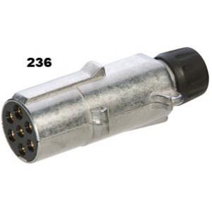 vidlice-zástrčka-24V 7P hliník JAEGER (černá)