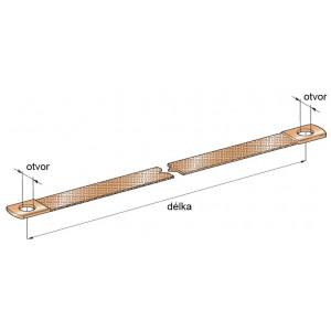 pásek kostřící CU 400délka/25průřez/12,5otvor