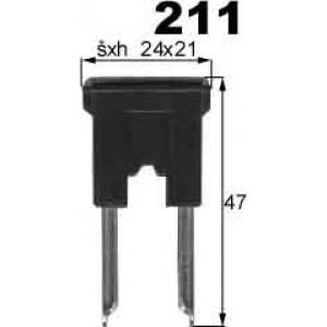pojistka 100A nasouvací ploché kont. 24x21mm