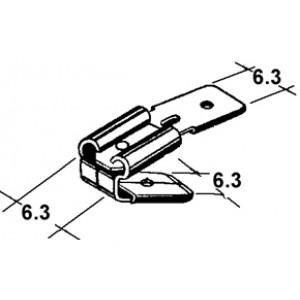 konektor 6,3mm dutinka + 6,3mm 2kolíky