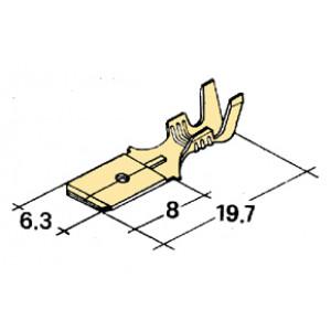 konektor 6,3mm 1-2,5mm kolík