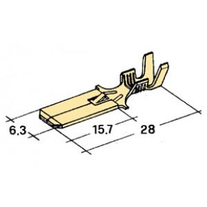 konektor 6,3mm 1-2,5mm kolík zajištěný/tvrdší/