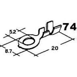 kabelové oko 5,2mm drát 0,8-4mm