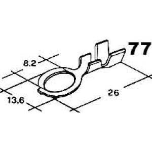 kabelové oko 8,2mm drát 1,5-4mm