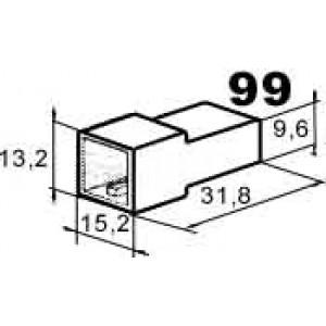 izolační kryt konektorů pro 2ks kolíků 6,3mm