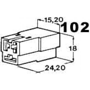 izolační kryt konektorů pro 3ks dutinek 6,3mm