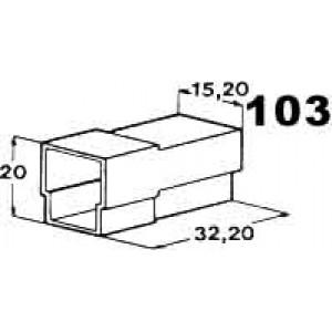 izolační kryt konektorů pro 3ks kolíků 6,3mm