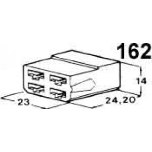 izolační kryt konektorů pro 4ks dutinek 6,3mm