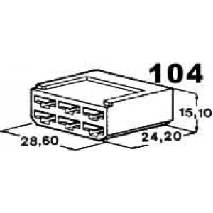 izolační kryt konektorů pro 6ks dutinek 6,3mm