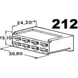 izolační kryt konektorů pro 8ks dutinek 6,3mm