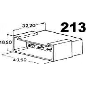 izolační kryt konektorů pro 8ks kolíků 6,3mm