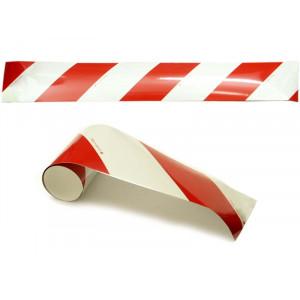 páska reflexní červenobílá 14x100cm (2ks)