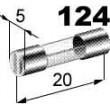 pojistka skleněná 25A 5x20mm