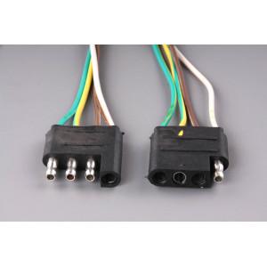 konektor plochý čtyřpólový (kus+protikus)