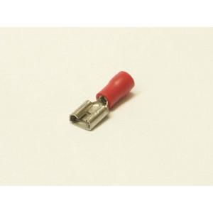 konektor 6,3mm 0,5-1,5mm dutinka izolovaná červená