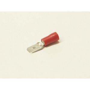 konektor 6,3mm 0,5-1,5 mm kolík izolovaný červený