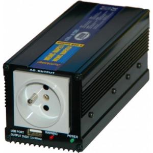 měnič napětí z 12V DC na 230V AC 300W trvale+USB