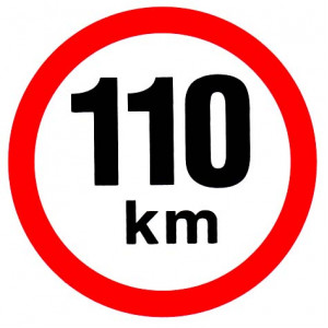 samolepka rychlosti 110 km