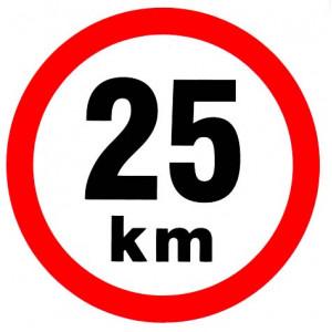 samolepka rychlosti 25 km