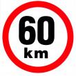 samolepka rychlosti 60 km