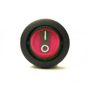 Přepínač podsvětlený kulatý 21mm červený